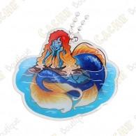 """Hidden Creatures"" Travel tag - Mermaid"