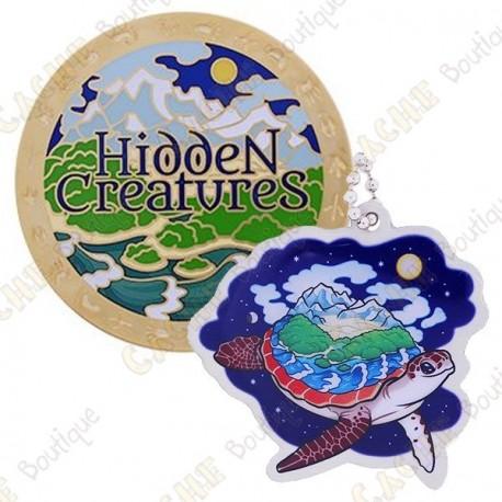 """Geocoin """"Hidden Creatures"""" + Copy Tag"""