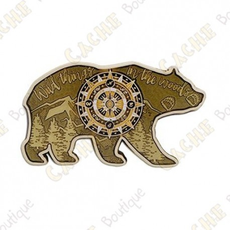 "Geocoin ""Bear"" - Gold - Limited Edition"