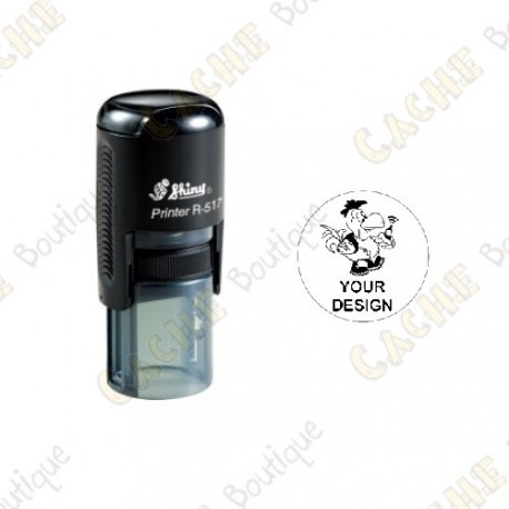 Carimbo redondo 100% personalizado - 17mm