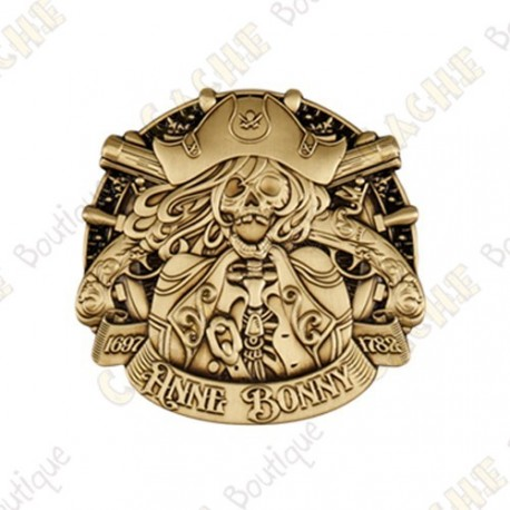 "Geocoin ""Pirate Doubloon"" - Antique Gold"