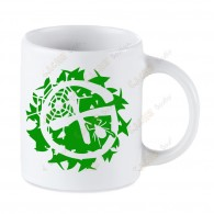 Geocaching white mug - Brushwoods