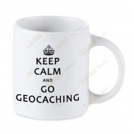 Caneca Geocaching branca - Keep Calm