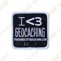 "Parche Trackable ""I love Geocaching"""