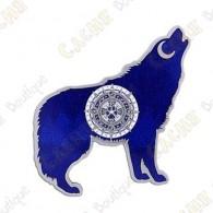 "Géocoin ""Wolf"" - Bleu"