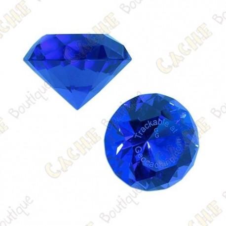 Diamant GeoGems™ Trackable - Bleu
