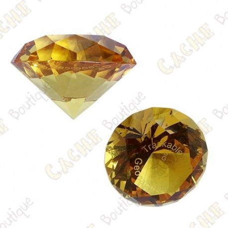 Diamant GeoGems™ Trackable - Amber