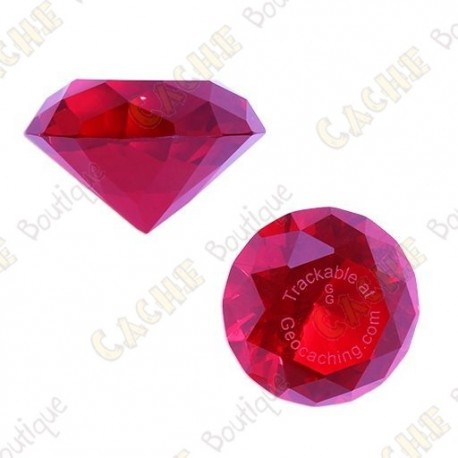 Diamant GeoGems™ Trackable - Ruby