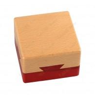 """Cache madeira """"Caixa secreta"""" quadrada"""