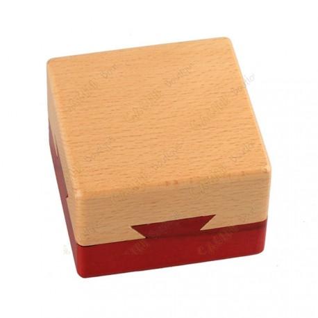"""Cache """"Boîte secrète"""" carrée en bois"""