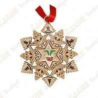 "Géocoin ""Signal ornament"" Snowflake - Cheminée"