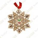 "Geocoin ""Signal ornament"" Snowflake - Chimney"