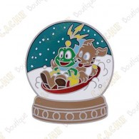 "Geocoin ""Signal the Frog® Snow Globe"" - Silver"