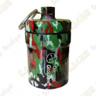 """Grosse micro cache """"Official Geocache"""" 8 cm - Camouflage rouge"""