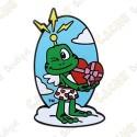 """Géocoin """"Signal the Frog™ Cupid"""" - Saint Valentin"""