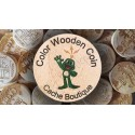 Wood coins Colores personalizados x 100