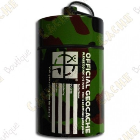 "Huge micro cache ""Official Geocache"" 8 cm - Camo"
