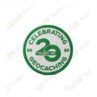 """Patch """"20 Years of Geocaching"""""""