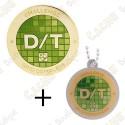 "Geocoin + Travel Tag ""Challenge"" - Difficulty Terrain 81 Grid"