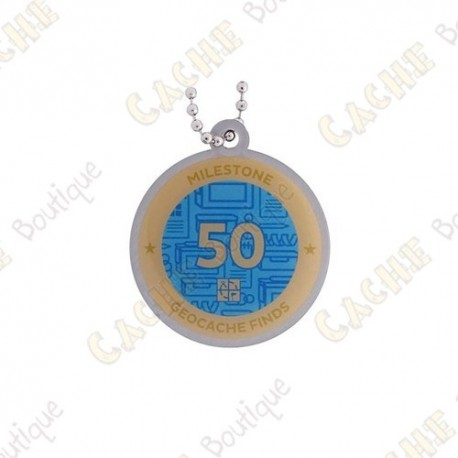 """Travel tag """"Milestone"""" - 50 Finds"""