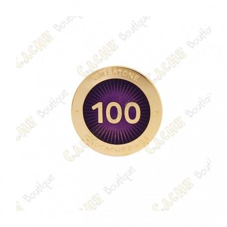 """Pin's """"Milestone"""" - 100 Finds"""