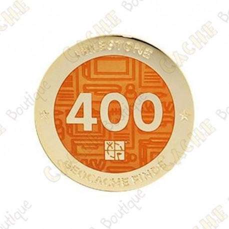 "Geocoin ""Milestone"" - 400 Finds"