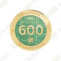 "Geocoin ""Milestone"" - 600 Finds"