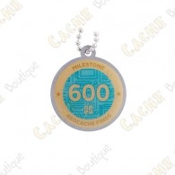 "Travel tag ""Milestone"" - 600 Finds"