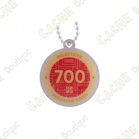 """Travel tag """"Milestone"""" - 700 Finds"""