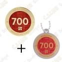 "Geocoin + Traveler ""Milestone"" - 700 Finds"