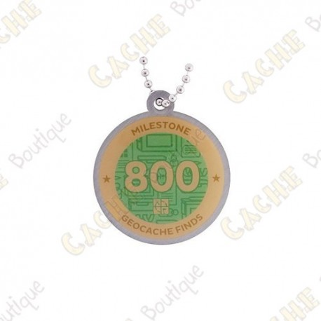 """Travel tag """"Milestone"""" - 800 Finds"""