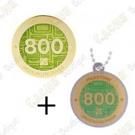 "Geocoin + Traveler ""Milestone"" - 800 Finds"