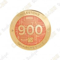 "Geocoin ""Milestone"" - 900 Finds"
