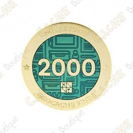 "Geocoin ""Milestone"" - 2000 Finds"