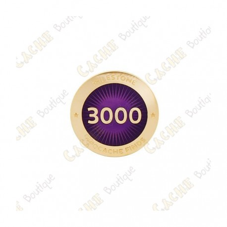 "Pin's ""Milestone"" - 3000 Finds"