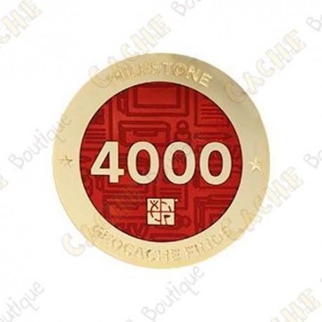 "Geocoin ""Milestone"" - 4000 Finds"