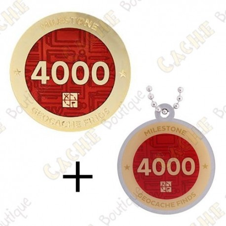 "Geocoin + Traveler ""Milestone"" - 4000 Finds"