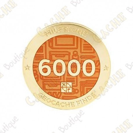 "Geocoin ""Milestone"" - 6000 Finds"