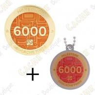 "Geocoin + Traveler ""Milestone"" - 6000 Finds"