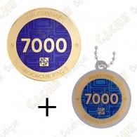 "Geocoin + Traveler ""Milestone"" - 7000 Finds"