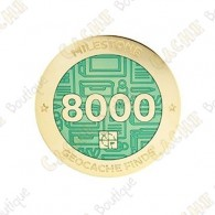 "Geocoin ""Milestone"" - 8000 Finds"