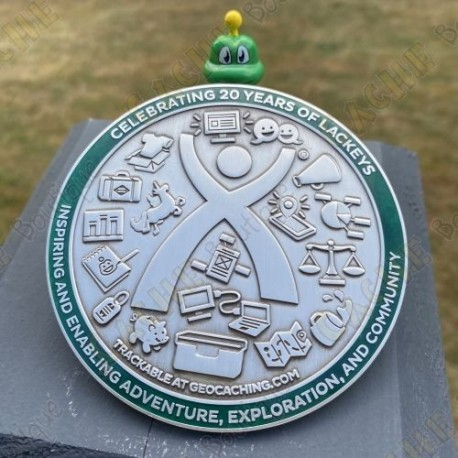 "Geocoin ""Lackey 2020"" + Traveler"