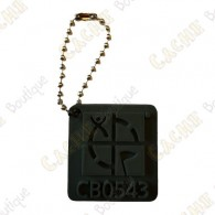 Traveler Logo Geocaching 3D - Negro