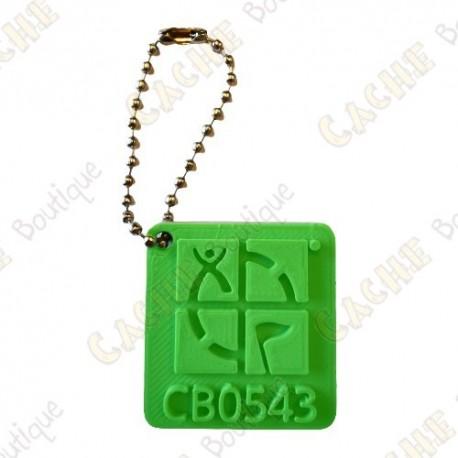 Traveler Logo Geocaching 3D - Verde