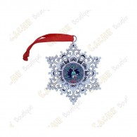 "Géocoin ""Snowflake Ornament"" - Houx"