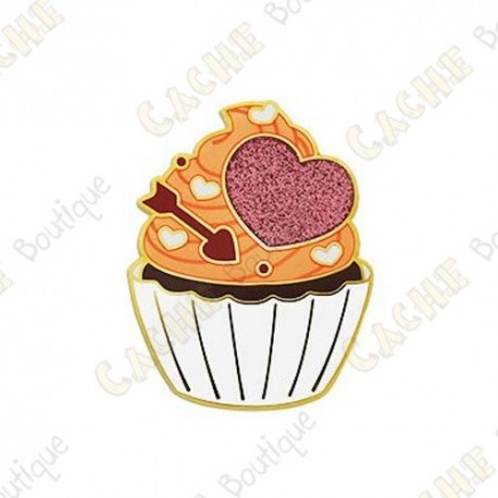 "Géocoin ""Valentine's Day Cupcake"""