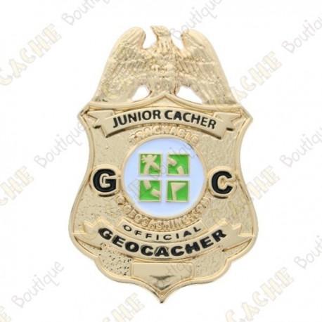 "Géocoin ""Official Junior Geocacher Badge"""