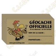 100% French cache stickers x 10